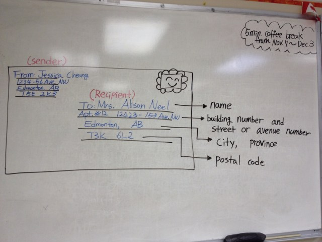 Nov. 24 _ How to write addresses on an envelope - ESL Papers