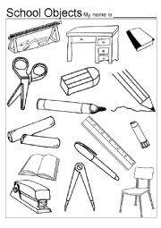 Classroom Objects Coloring Pages Sketch Coloring Page