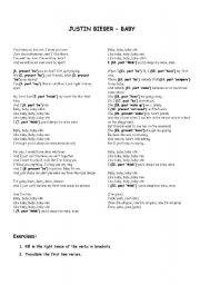 Justin Bieber Baby Song Mp3 Free Download : justin, bieber, download, Justin, Bieber, Lyrics+Exercises