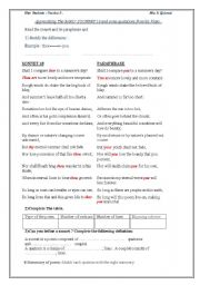 Commonlit Sonnet 18 Answer Key : commonlit, sonnet, answer, Sonnet, Worksheet, Answers
