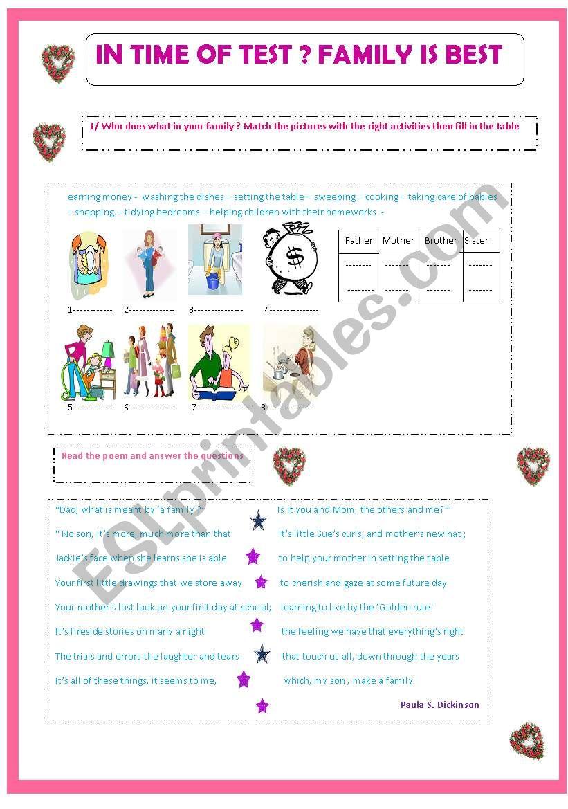Family Roles Worksheet : family, roles, worksheet, Family, Roles, Worksheet, Nagui