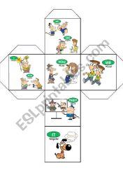 Dado de Personal Pronouns ESL worksheet by barbaragonzalez