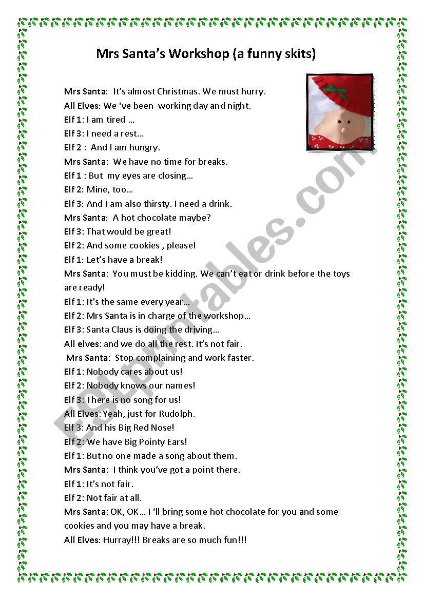 Funny Christmas Plays Free : funny, christmas, plays, Short, Funny, Christmas, Skits, Adults
