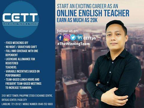 Be an ONLINE ENGLISH TEACHER