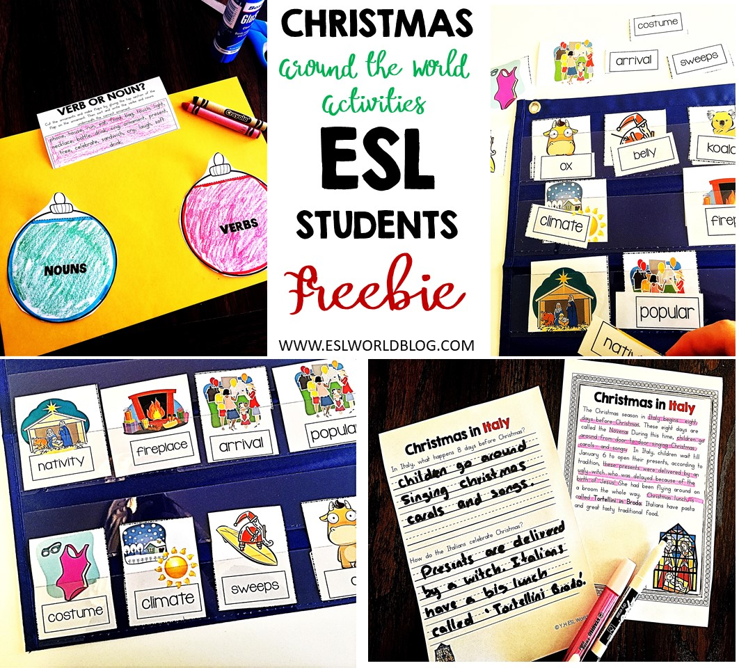 Christmas Around The World Esl Worksheets Free Esl World
