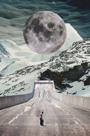 Collage surrealista (Visto en Pinterest)