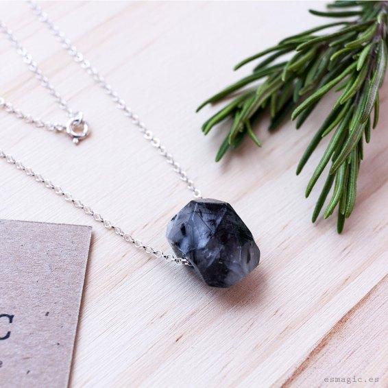 Colgante plata piedras chakras esmagic tienda online