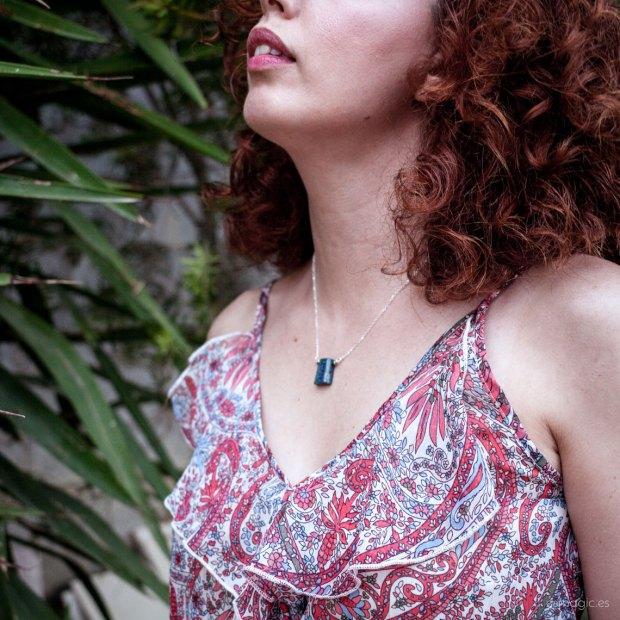 Colgante plata Lapislázuli y crisocola Esmagic