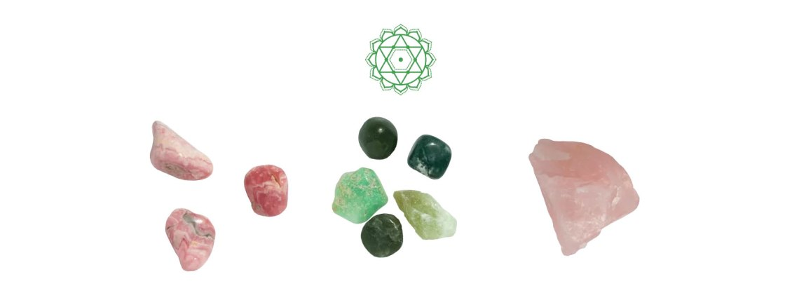 Piedras chakra corazón