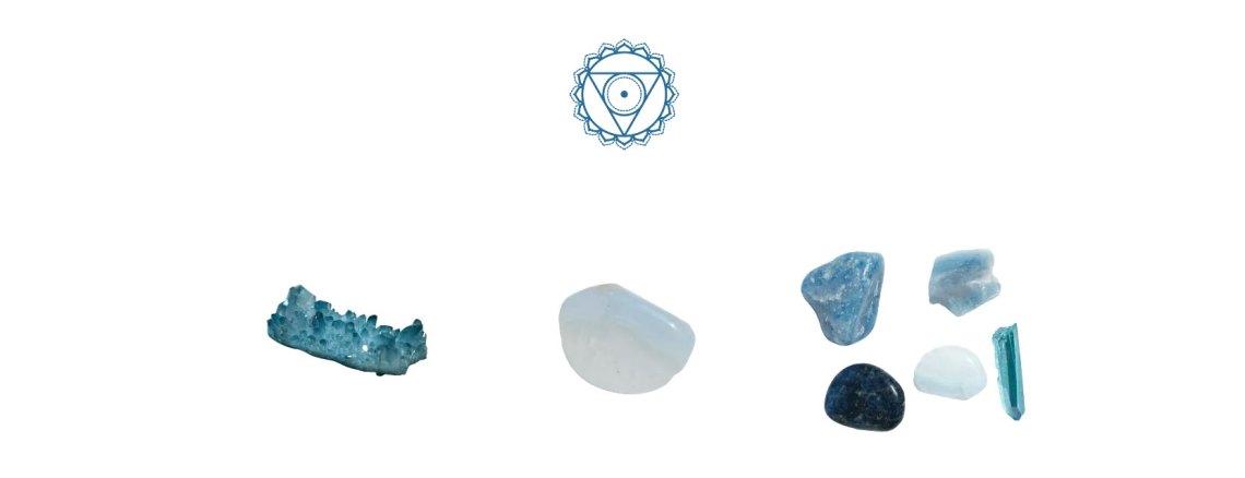 Piedras chakra garganta