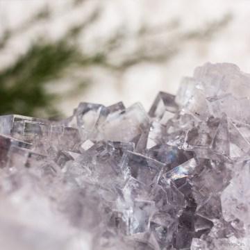 Drusa Fluorita Azul Mineral Tienda Cristales Esmagic