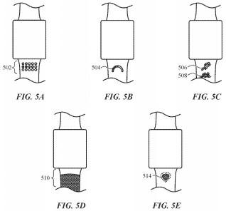 Apple watch band indicators