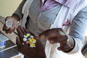 Cúmulo de pastillas contra la tuberculosis multirresistente