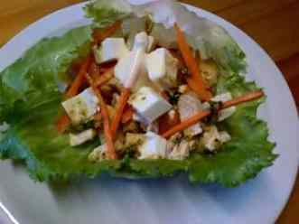 Spicey Chicken Salad Boats.