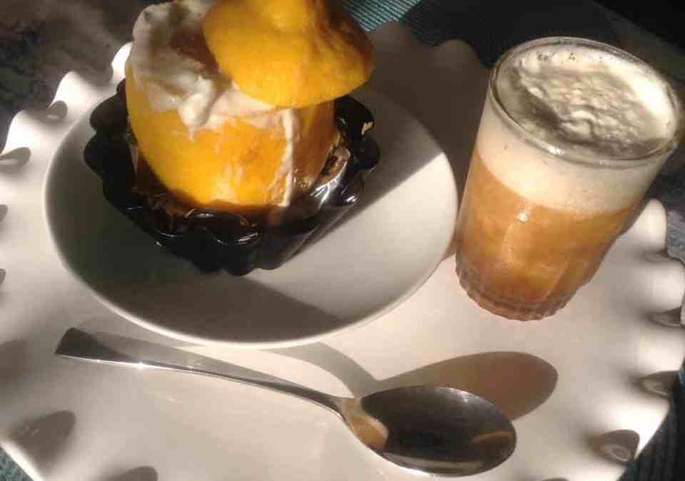 Coffee and Minty-Lemon Sorbet