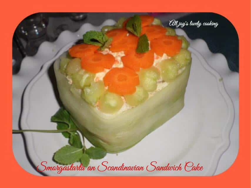 Smorgastarta an Scandinavian Sandwich Cake