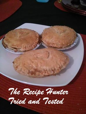 Home made chicken and mushroom pies