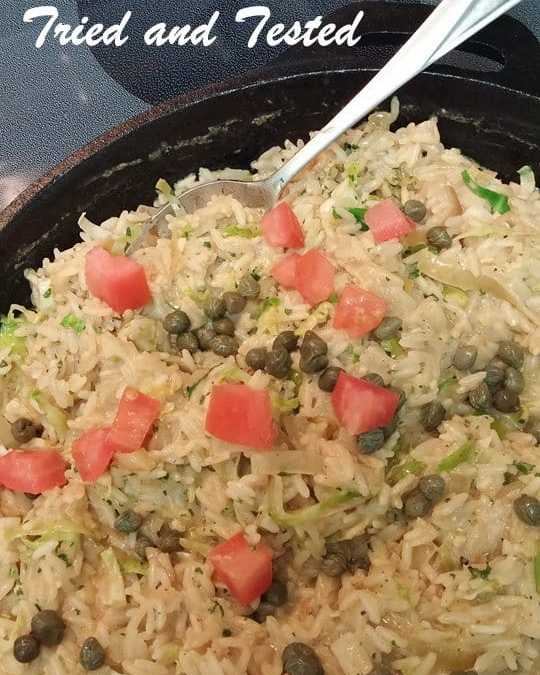 Seafood rice with coconut milk
