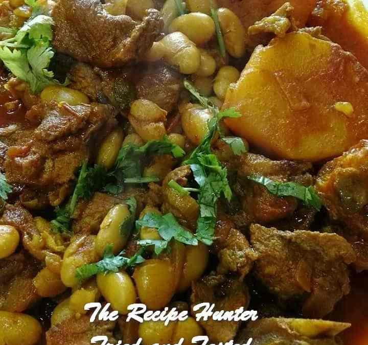 Sureka's Lamb curry with gadra (Borlotti) beans and potatoes