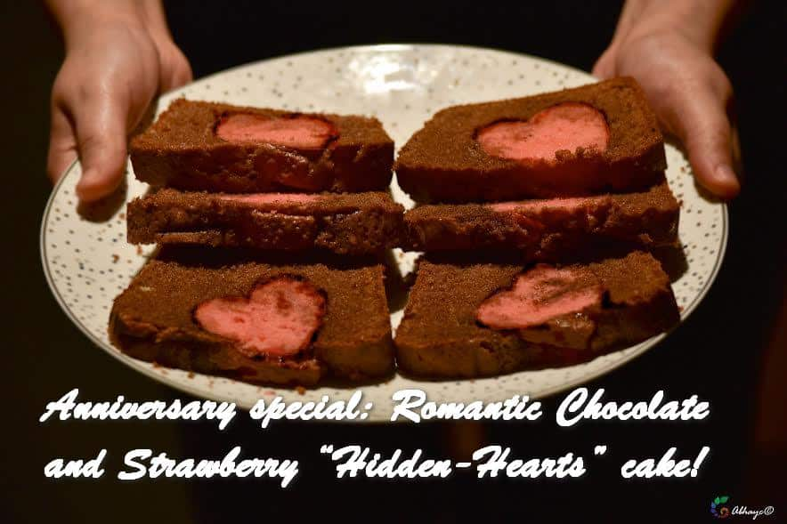 TRH Anniversary special Romantic Chocolate and Strawberry Hidden-Hearts cake!