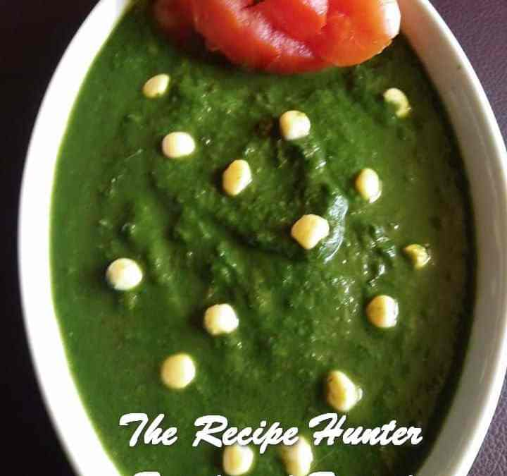 Moumita's Simple Spinach curry