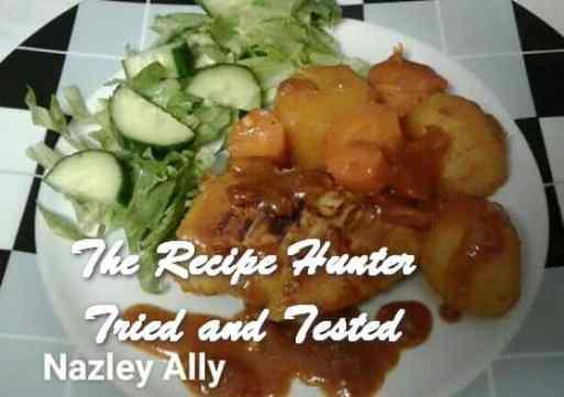 TRH Nazley's Spicey Saucy Masala Chicken & Vegetables