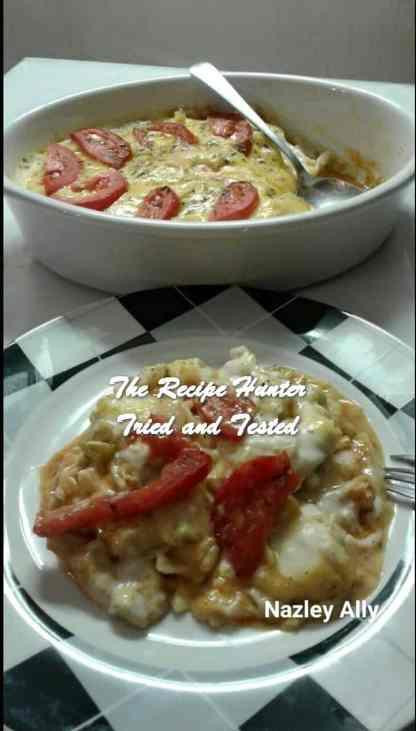 TRH Nazley's Spicey, sweet & tangy chicken tagliatelle bake