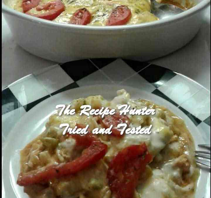 Nazley's Spicey, Sweet and Tangy Chicken Tagliatelle bake