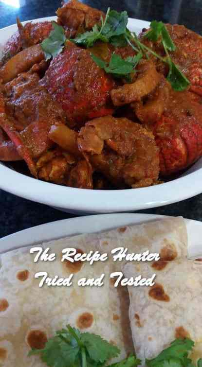 TRH Feriel's Crayfish, Prawns and Calamari Curry with Indian Style Rotis