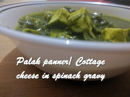 TRH Palak panner Cottage cheese in spinach gravy