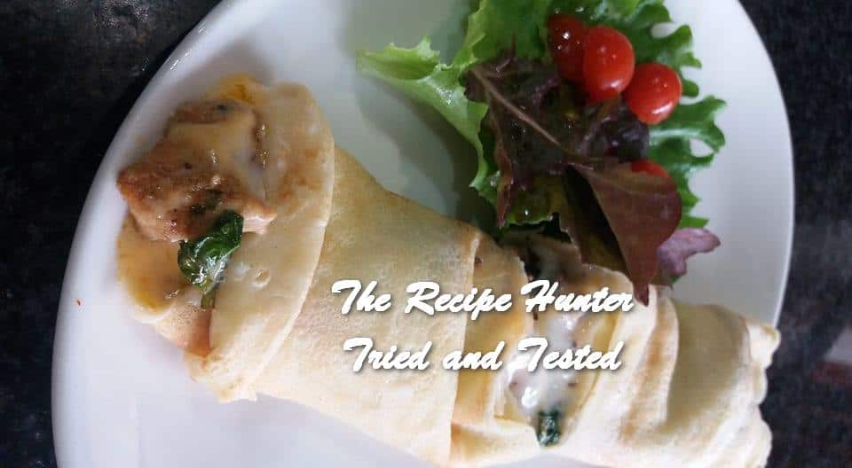 Feriel's Spinach, Chicken and Mushroom and Coconut Pancakes