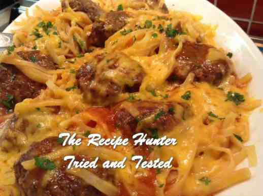 TRH Gail's Tomato Meatballs with Linguine