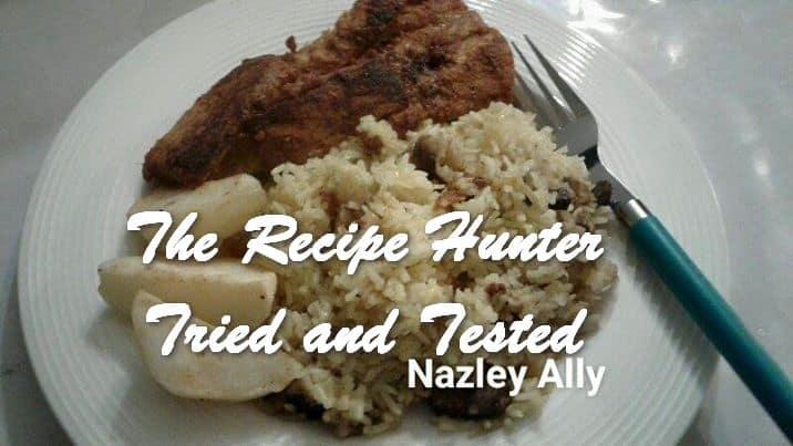 Nazley's Snoek served with Mushroom rice