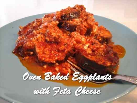 TRH Oven Baked Eggplants with Feta Cheese