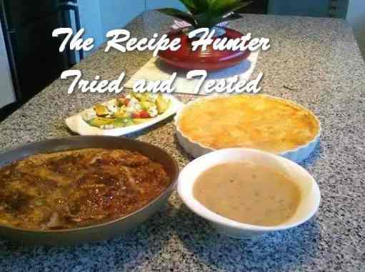 TRH Shane's Chicken pie,soup and bread pudding