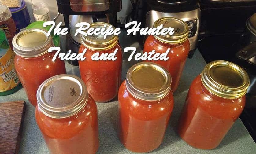 Wally's Homemade Tomato Sauce