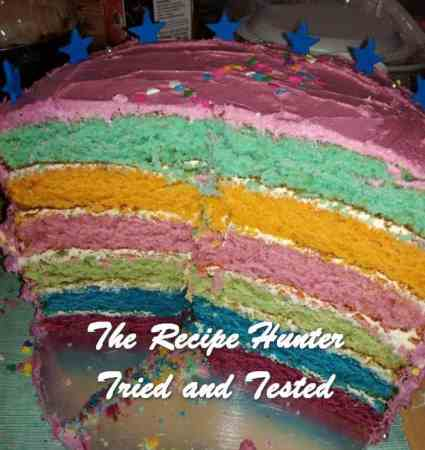 Laura's Rainbow Colored Birthday Cake