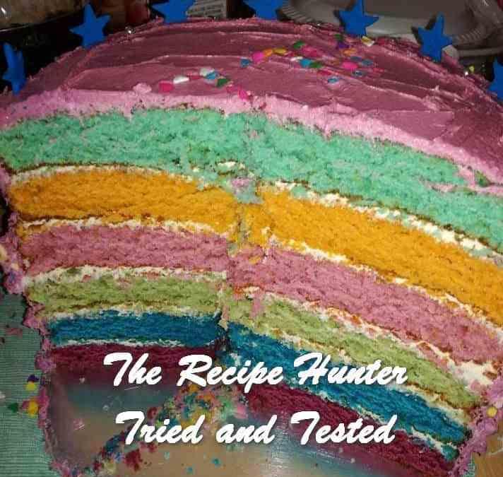 Laura's Multi-colored Birthday Cake