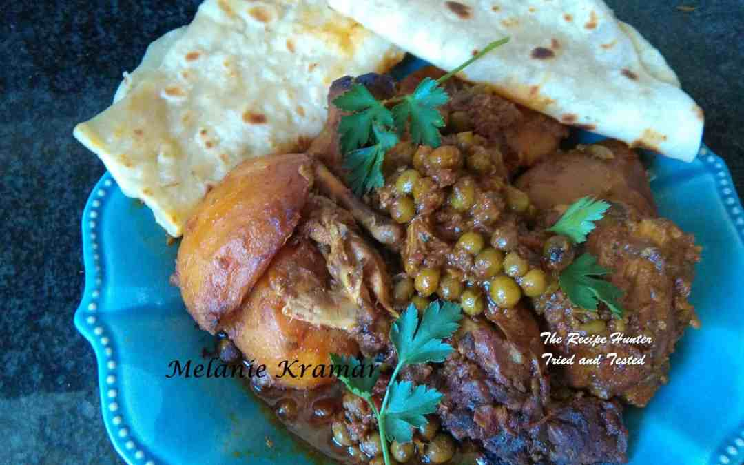 Melanie's Roti and Chicken Curry with Peas