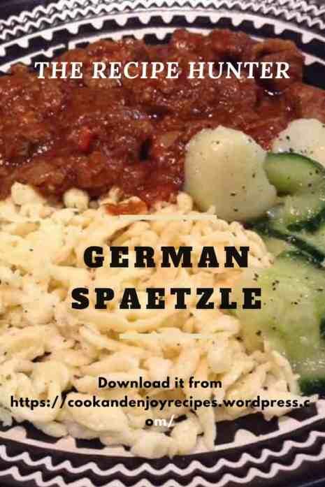 German Spaetzle