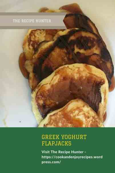 Greek yoghurt flapjacks