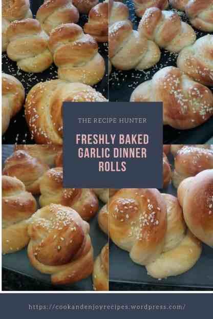 Freshly Baked Garlic Dinner Rolls