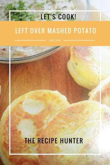 Left Over Mashed Potato
