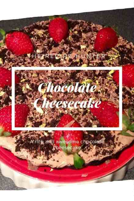 A rich and awesome chocolate cheesecake
