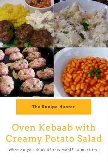 Oven Kebaab with Creamy Potato Salad