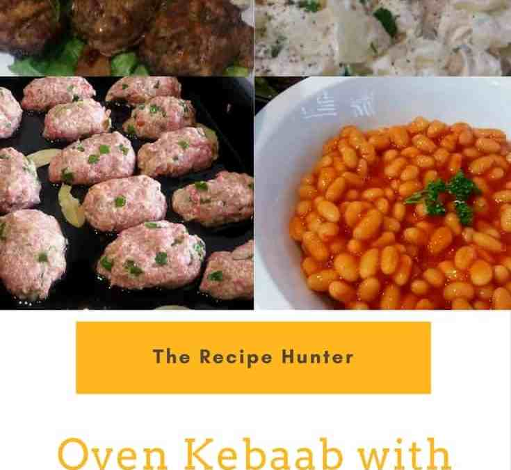 Feriel's Oven Kebaab with Creamy Potato Salad