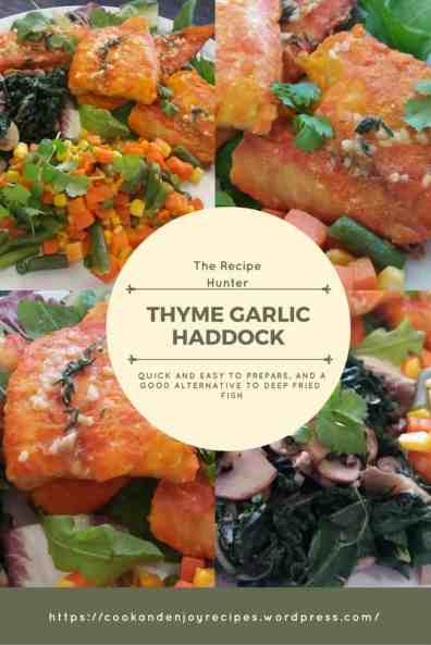 Thyme Garlic Haddock