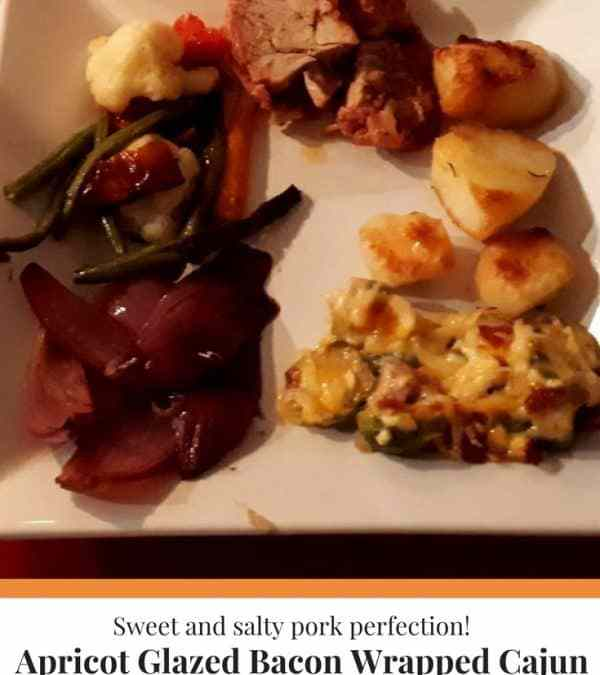 Hilda's Apricot-Glazed Bacon Wrapped Cajun Pork Tenderloin
