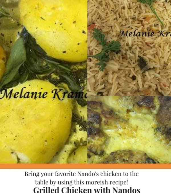 Melanie's Grilled Chicken with Nandos Sauce and Cream