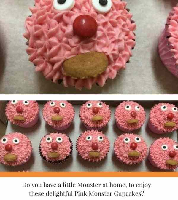 Pink Monster Cupcakes